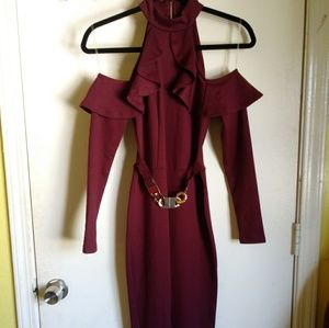 Material Girl Burgundy Jumpsuit (Free Shipping)